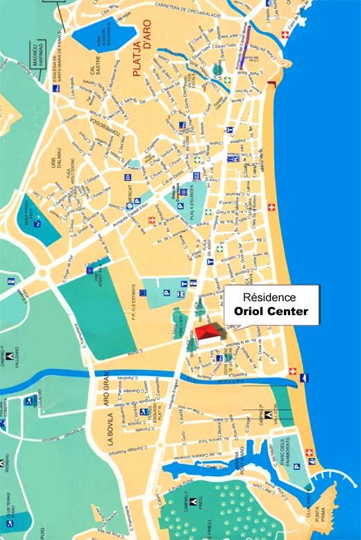 Mapa Costa Brava Playas.Plan Ville Playa D Aro Location Playa D Aro Location